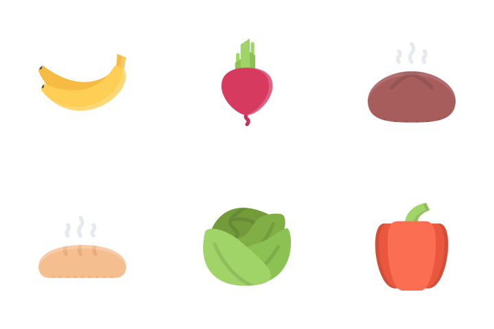 Food Flat Icon Pack