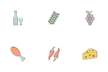Food Flat Outline Icon Pack