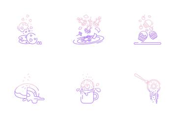 Food Levitation Icon Pack