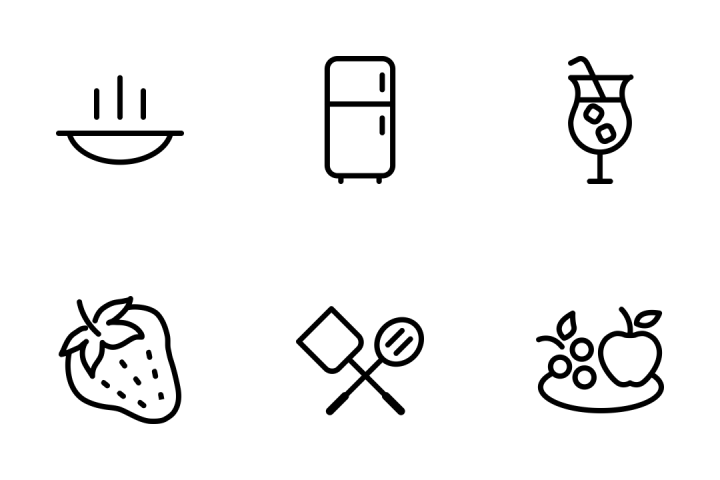 Download Food Line Icons Icon pack - Available in SVG, PNG, EPS, AI & Icon  fonts