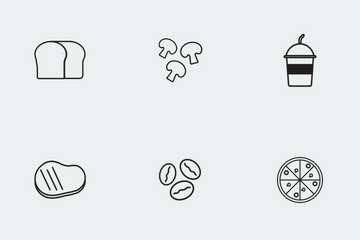 Food Market Icon Pack