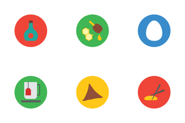 Food Material Design Vector Icons Icon Pack