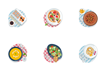 Food On Tablecloth (part 2) Icon Pack