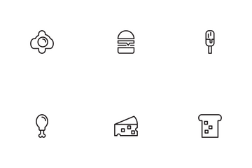 Food Outline Icon Pack