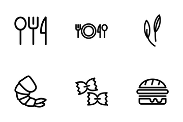 Food Outline Pack 1 Icon Pack