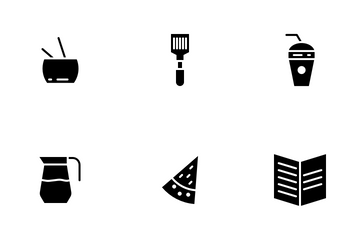 Food Part 2 Glyph Icon Pack