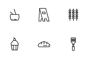 Food Part 2 Line Icon Pack