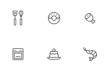 Food Thinline Icon Pack