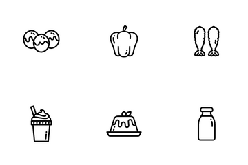 Foods & Beverages Icon Pack