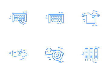 Footbal Line Icon Pack