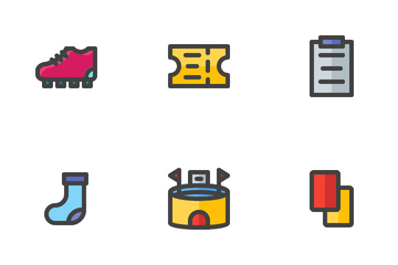 Football (Filled Line) Icon Pack