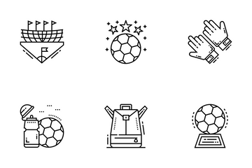 Football Soccer Line Icons Pack Icon Pack