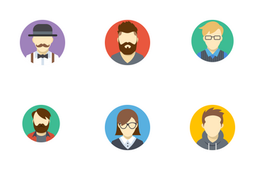 Free Avatars Flat Icons Icon Pack