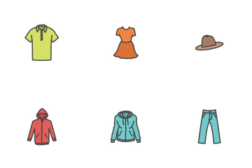 Free Clothing Fill Color Icons Icon Pack