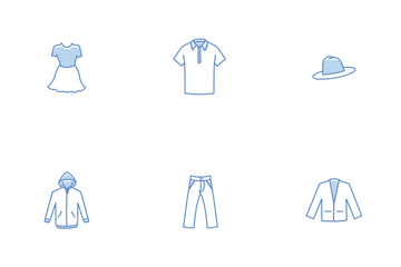 Free Clothing Line Stroke Color Icons Icon Pack