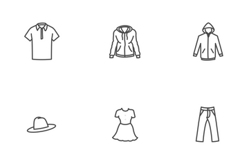 Free Clothing Line Stroke Icons Icon Pack