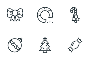 Free Line Christmas Icons Icon Pack