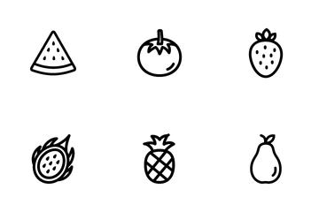 Fresh Fruit Sets Icon Pack