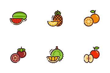 Fresh Fruits Icon Pack