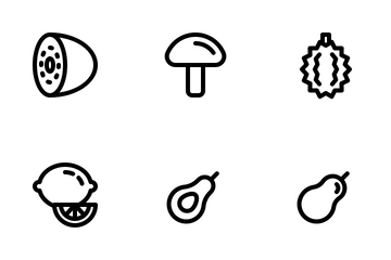 Fruit And Vegetable Icon Pack