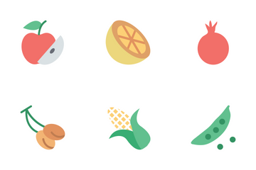 Fruit And Vegetable Icons Icon Pack