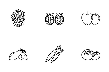 Fruit (line) Icon Pack