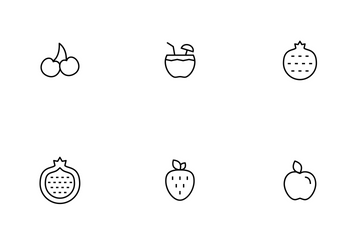 Fruit Thinline Icon Pack