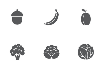 Fruit & Vegetables Glyph Icons Icon Pack
