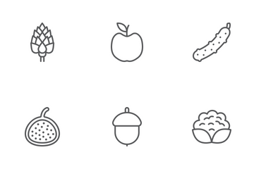 Fruit & Vegetables Line Icons Icon Pack