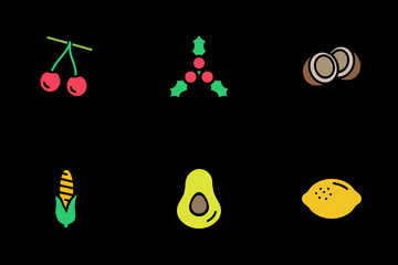 Fruits And Vegetables Icon Pack