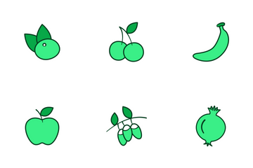 Fruits And Vegetables V2 Icon Pack