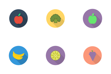 Fruits And Veggies Icon Pack