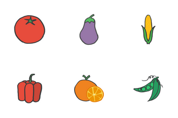 Fruits And Veggies - Doodles Icon Pack
