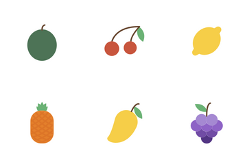 Fruits (Flat) Icon Pack