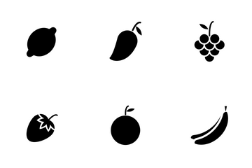 Fruits (Glyph) Icon Pack
