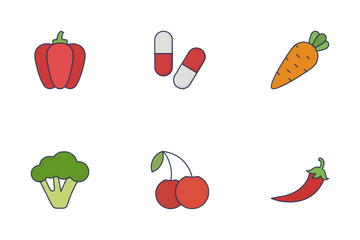 Fruits & Vegetable Vol 1 Icon Pack