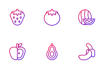 Fruits & Vegetables Icon Pack