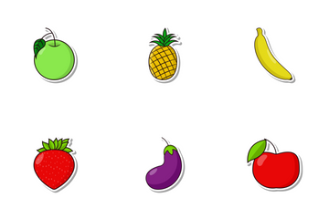 Fruits & Vegetables Vol 1 Icon Pack