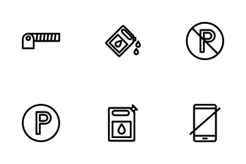Fuel Station Icon Pack