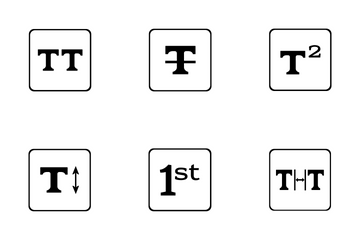 Functions And Formatting Text  Icon Pack