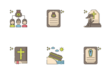 Funeral Service Icon Pack