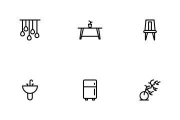 Furniture And Home Decoration Icon Pack