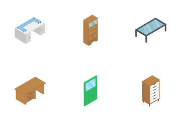 Furniture And Home Decorations Icon Pack