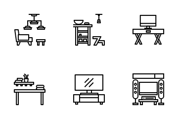 Furniture And Interior Icon Pack