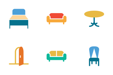 Furniture Colored Icons Icon Pack