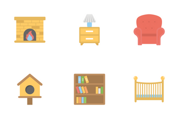 Furniture Flat Colored Icons 1 Icon Pack