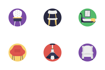 Furniture Flat Icons 2 Icon Pack