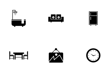 Furniture & Home Decoration Icon Pack
