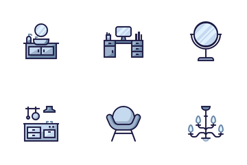Furniture Home Living Icon Pack
