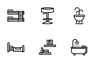 Furniture Outline Icon Pack